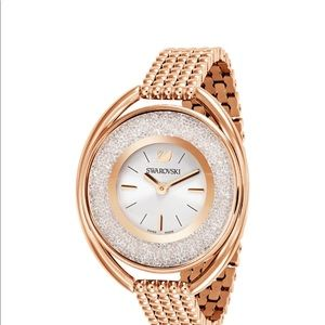SWAROVSKI CRYSTALLINE OVAL WATCH (rose gold)